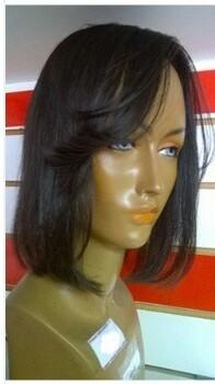 Prótese chanel castanho cabelo humano