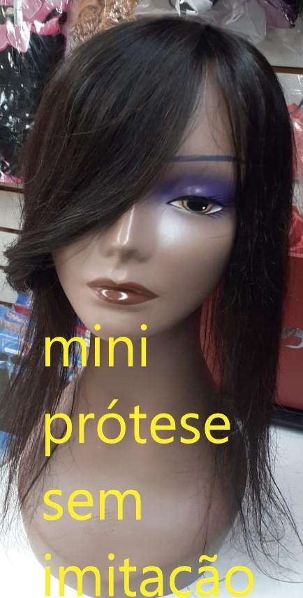 mini prótese cabelo humano