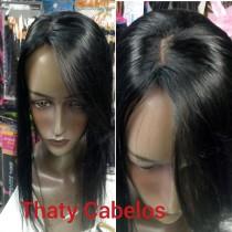 Mini prótese 50 cm com imitação de couro cabeludo lateral (IMITAÇÃO DO LADO DIREITO MOLDE 9X12)