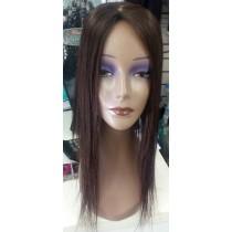 Prótese 50 cm reta sem corte com imitação de couro cabeludo 70 gramas molde 12x12