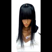 Prótese capilar Master com imitação do couro cabeludo tamanho 50 cm molde 14x14 franjinha